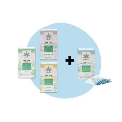 Pack thés CBD (3 + 1 offert)